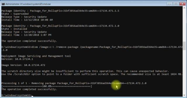 Windows 10 uninstall command line