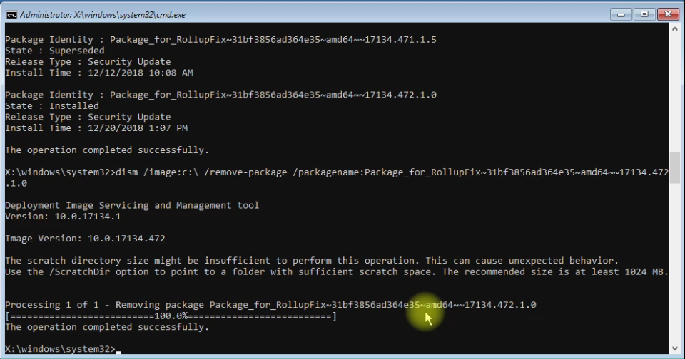 How To: Remove Updates from Windows 10 using Command Prompt