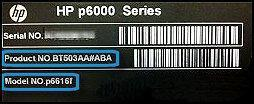 hp label